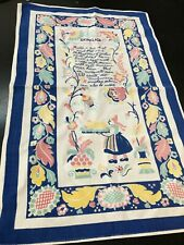 Swedish Dish Towel Recipe Skinklada wall hanging kitchen vintage