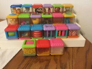 Fisher Price Peek-A-Boo Plastic Stacking Baby Blocks (21) Sensory Educational