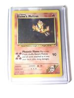 BLAINE'S MOLTRES - Gym Heroes  - 1/132 - Holo Rare - Pokemon Card - EXC/NM