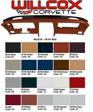 78 79 80 81 82 CORVETTE DASH PAD ASSEMBLY CA Brand