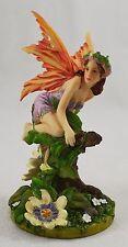 Beautiful Fantasy Fairy/Pixie Figure/Statue 'Pasiflora' by Linda Ravenscroft New
