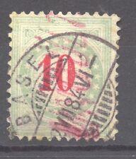 1883 Postage Due, 10 C. bluegreen, Zumstein 18 A K, VF ++ used