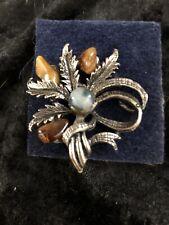 Brooch Jewellery Lot Unsigned Precious Stone Garland