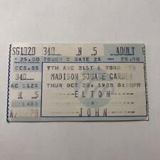 Elton John Madison Square Garden NY Concert Ticket Stub Vintage October 1988
