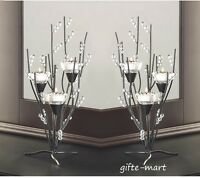 14 ICICLE crystal Ice Winter Tree Candelabra Candle holder table centerpiece