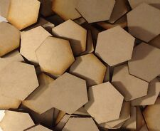 10x 40mm Hex MDF Wood Bases Laser Cut Crafts Wargames Miniatures FAST SHIPPING