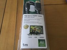 Belkin HDMI With MINI HDMI Cable 1 M Gold Plated -New -  No Packaging