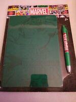 NIP Marvel Comics 80 Year Anniversary Incredible Hulk Embossed Notebook/Pen Set