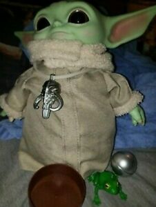 "Star Wars The Mandalorian Baby Yoda Plush Doll Wearable Necklace 11"" + ACCS"