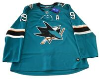 San Jose Sharks Joe Thornton #19 Adidas NHL Jersey Climalite Fight Strap NWT