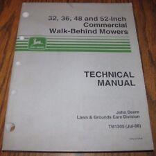 "John Deere 52 48 36 32"" Commercial Walk-Behind Mower Technical Repair Manual jd"