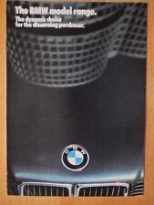 BMW Range 1986 1987 UK Mkt Sales Brochure Prospekt - 3 5 6 7 Series & M635 CSi