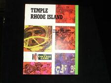 November 11, 1972 Temple vs. Rhode Island Football Program EX+