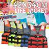 Life Jacket Aid Sailing Boating Swimming Kayak Fishing Vest Kids Adult Safety