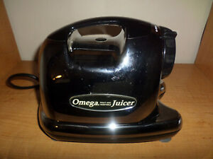 Omega 8006 Juicer Motor Base Only Chrome Stainless Steel Working - Fast Shipping