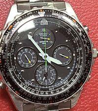 Vintage Seiko Flightmaster Sports 150 7T34-6A00 Watch Original Band MINT