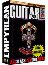 Guns N Roses Appetite For Destruction Guitar Tabs CD-R Digital Lessons Software