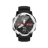 Smartwatch T5 Bluetooth Uhr Rundes Display Edelstahl Samsung iPhone Huawei IP68