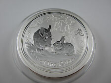 "2011 Silver LUNAR  ""YEAR OF THE RABBIT"" KILO specimen. Exceptional Perth Mint"