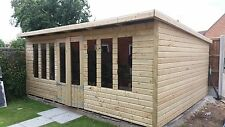 18 x 12 19mm Tanalised & Pressure Treated T&G Pent Summerhouse ,4X2 roof joists