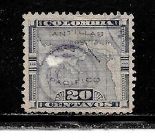 Panama Stamps- Scott # 19/A4-20c-Canc/LH-1895-NG