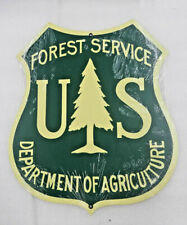 """16"""" Usfs forest service shield Ranger agriculture logo Usa steel metal sign"""