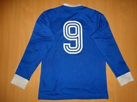 Schalke #9  KLAUS FISCH SPIELER TRIKOT match worn shirt ADIDAS 1975 1976 LONG