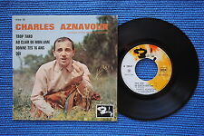 CHARLES AZNAVOUR / EP BARCLAY 70519 / LABEL 2 / BIEM 1963 ( F )