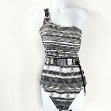 Calvin Klein one piece swimsuit black white and gray new with tags size 14