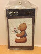 Charmin Maurice Bear Counted Cross Stitch Kit Boy Bear With Tulips Alma Lynne