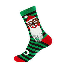 Gumball Poodle Crew Socks - Santa 1 (With Beard!) - Unisex