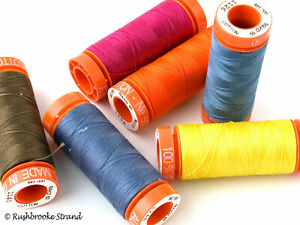 Aurifil Cotton Mako Fine Embroidery Thread 50 wt 220 yard spools - Page 4
