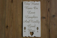 SHABBY CHIC,WITH CHOICE OF TWO VERSES,WITH HEART CUT OUT