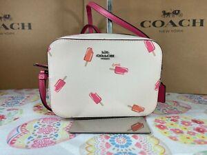 Coach Mini Camera Bag With Popsicle Print C4216 Silver/Chalk Multi