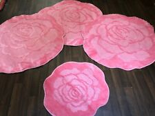 X ROMANY WASHABLES GYPSY MATS 4PC SETS QUALITY LARGE NON SLIP BRIGHT PINK RUGS