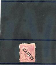 TAHITI Sc 15(YT 17)*F-VF LH 1893 75c ROSE $225