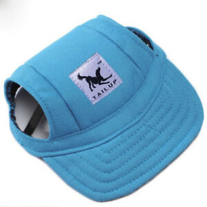 Dog Hat Pet Baseball Cap Sport Visor Cap with Ear Holes Chin Strap for Dogs Cats