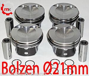 CDNC CDNB 2,0 TFSI Kolben 4 Stück Standardmaß Bolzen Ø 21mm 06H107065BD Audi VW