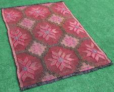 Turkish Kilim Rug 45''x61'&# 039; Hand Woven Konya Cicim Kilim 116x156cm Area Rug