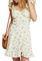 Free People Womens Sheath Dress Beige Size XS A Lady Printed Mini  $108 513