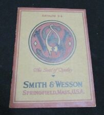 RARE 1925 Smith & Wesson Revolvers & Pistols Model Catalog D-4 and Price List