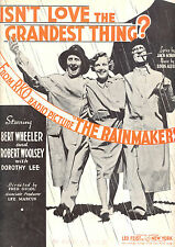 """THE RAINMAKERS Sheet Music """"Isn't Love The Grandest Thing"""" Wheeler & Woolsey"""