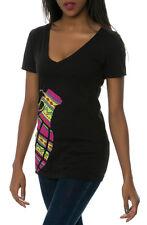 2015 NWT WOMENS GRENADE GLOVES AZTEC T-SHIRT $24 black v-neck multicolor