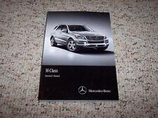 2015 Mercedes Benz M ML Class ML250 ML350 ML400 BlueTEC ML63 AMG Owner Manual
