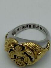 US Army 14kt Gold-plated Onyx Stone Ring 9 1/2