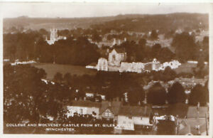 Hampshire Postcard - Wolvesey Castle from St Giles Hill - Winchester  Ref TZ6159