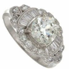 1.77ct Gia Certified Old European Cut Platinum Antique Engagement Ring
