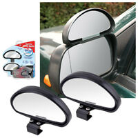 Pair 2 x Frog Eye Convex Wide Angle Blind Spot Wing Mirrors View Car Van Towing