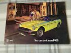 MGB Roadster 1974 - 10 page sales brochure - Excellent Condition