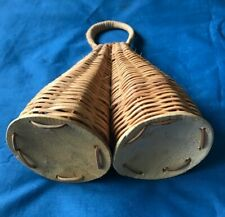 """7"""" Brazilian Handmade Double Caxixi Large Hand Percussion Musical Instrument"""